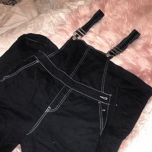 Forever21 Black Overalls